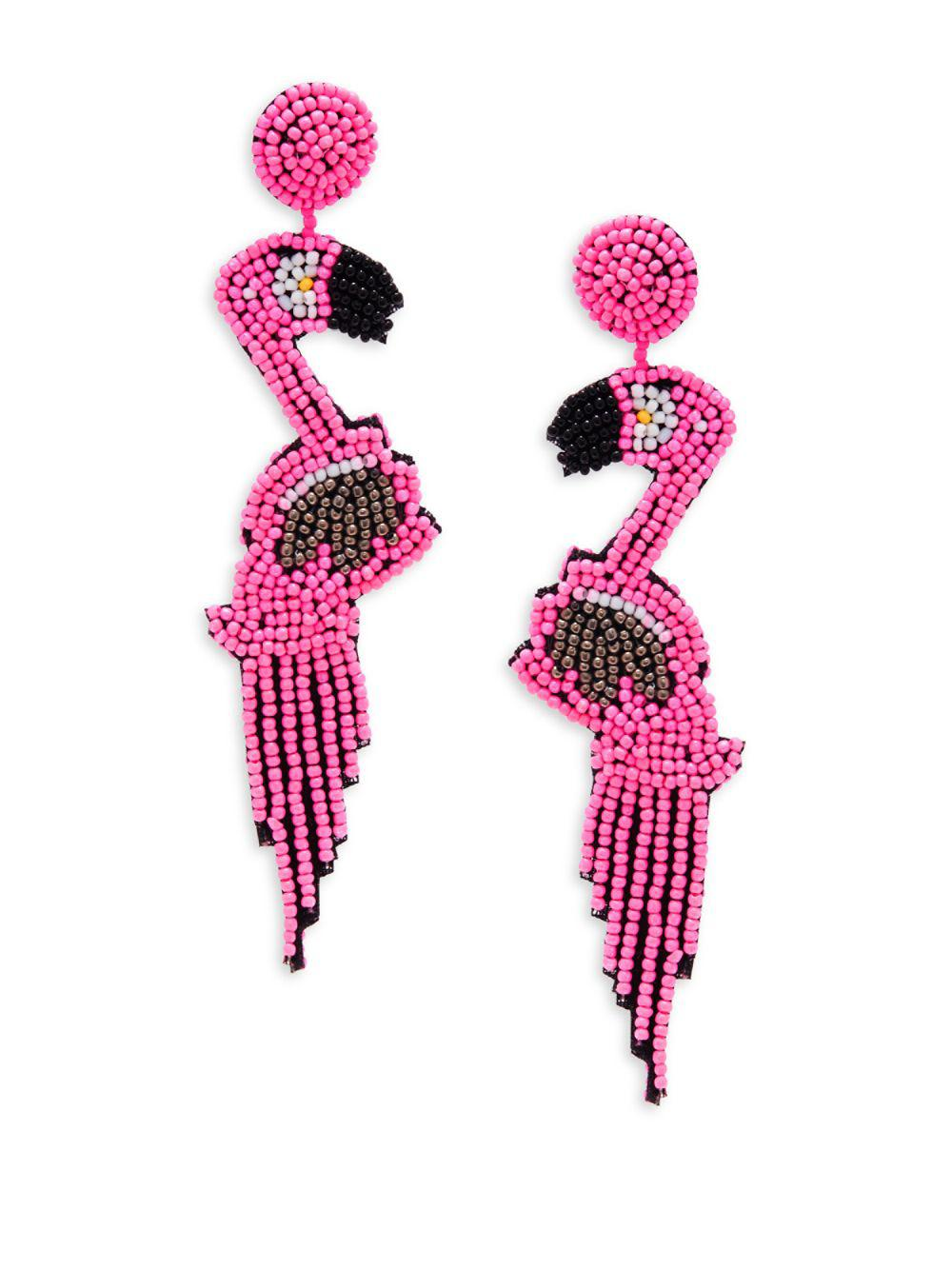 41330a963 Kenneth Jay Lane Flamingo Drop Earrings in Pink - Lyst