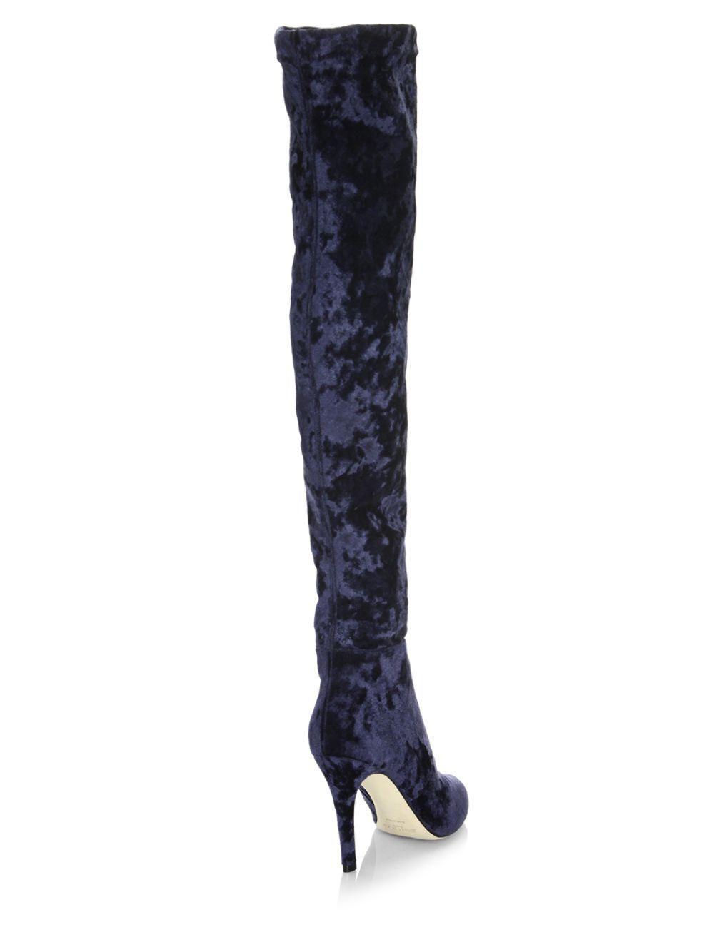 c526222d3c9 Lyst - Jimmy Choo Toni Velvet Over-the-knee Boots in Blue