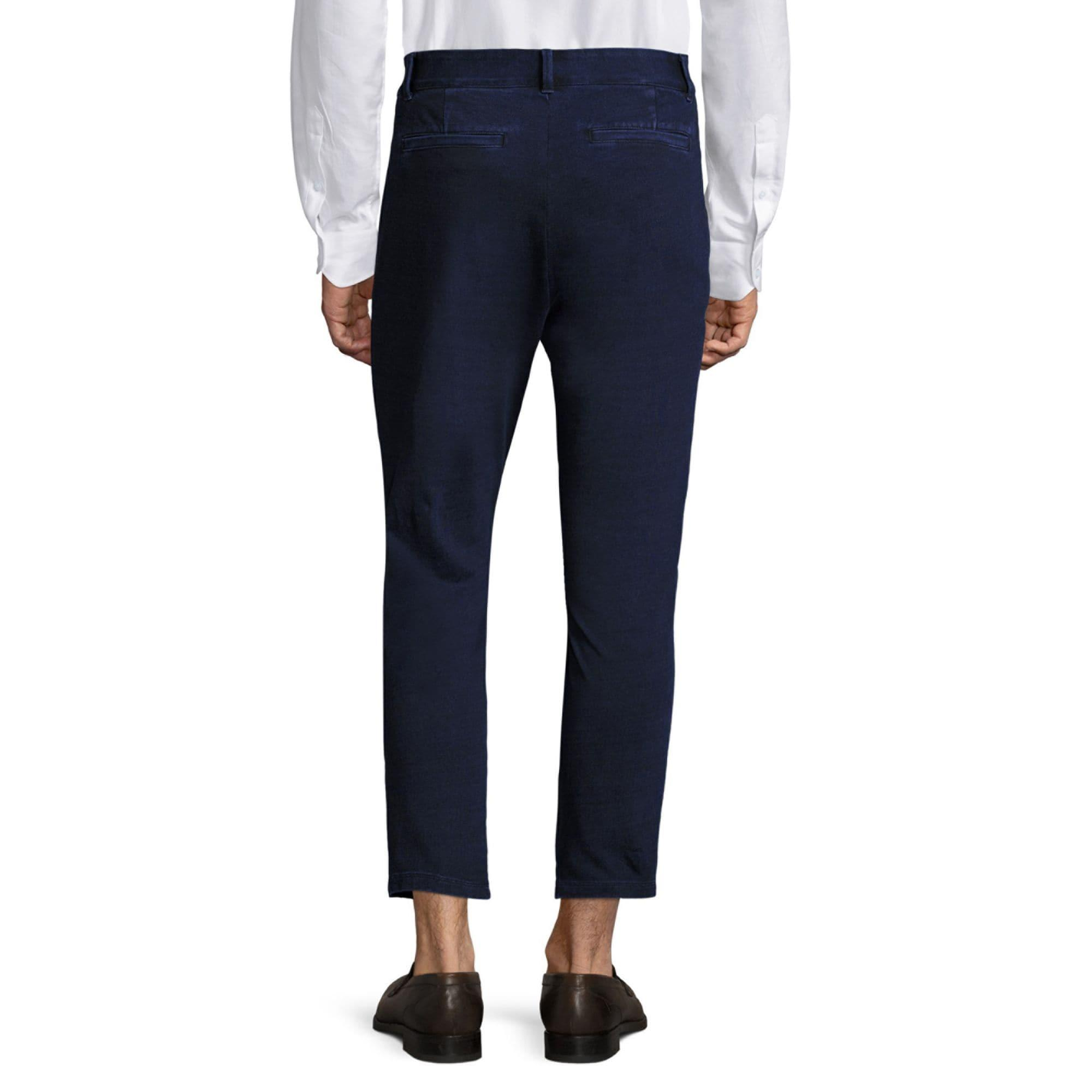 AG Jeans Cotton Regular-fit Ankle Length Sulfur Trousers in Navy (Blue) for Men
