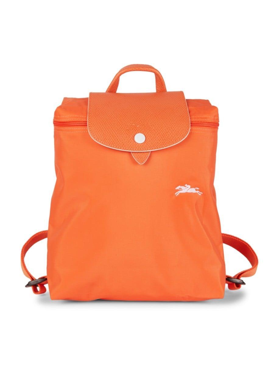 Women's Le Pliage Club Nylon Foldable Backpack - Orange
