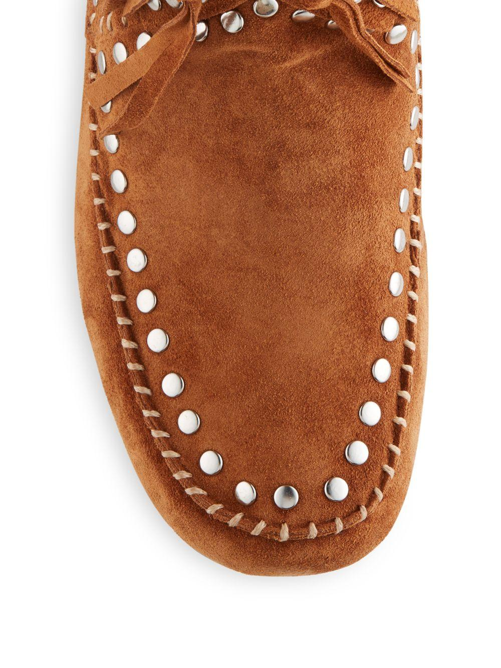 Ash Shilo Fringed Suede Boots in Brown