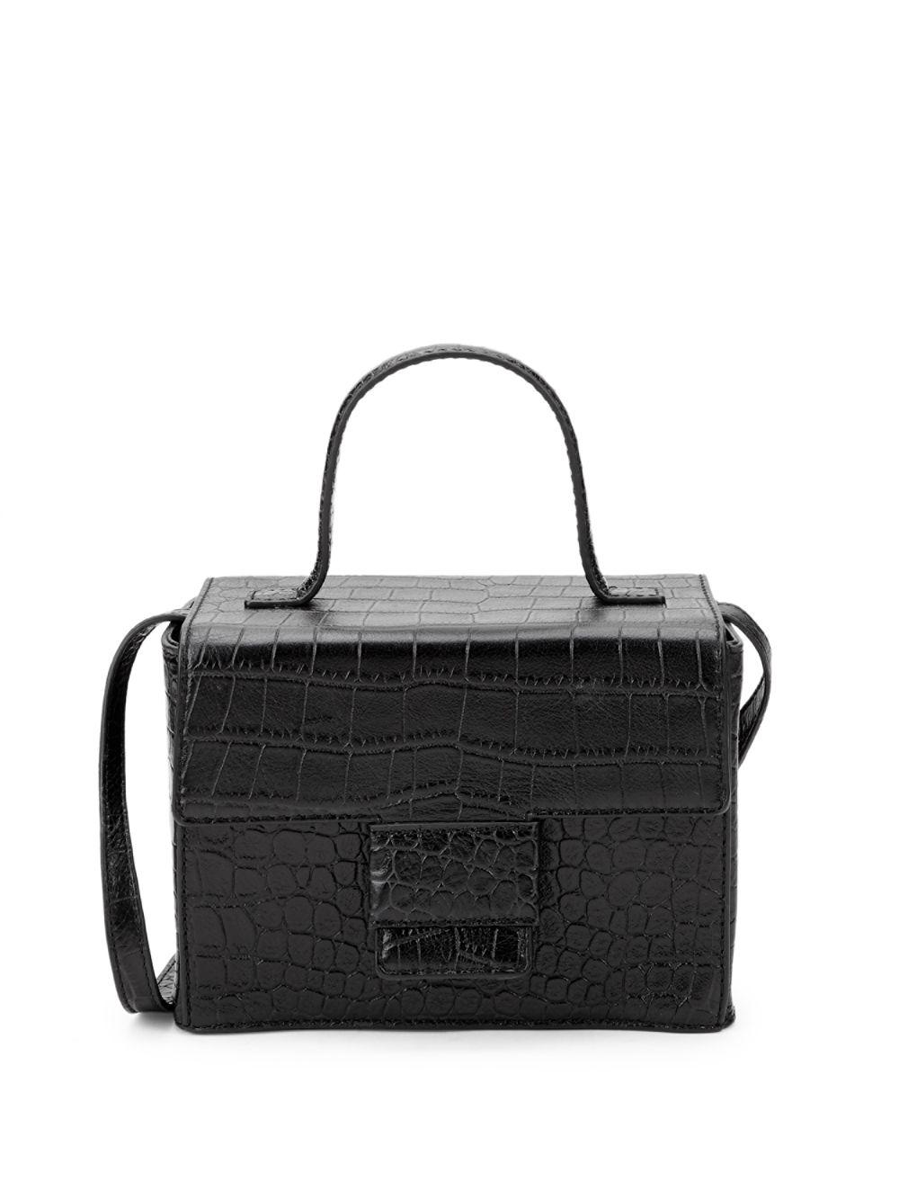 b1740a7ef8ea Lyst - Steven Alan Classic Embossed Leather Crossbody Bag in Black