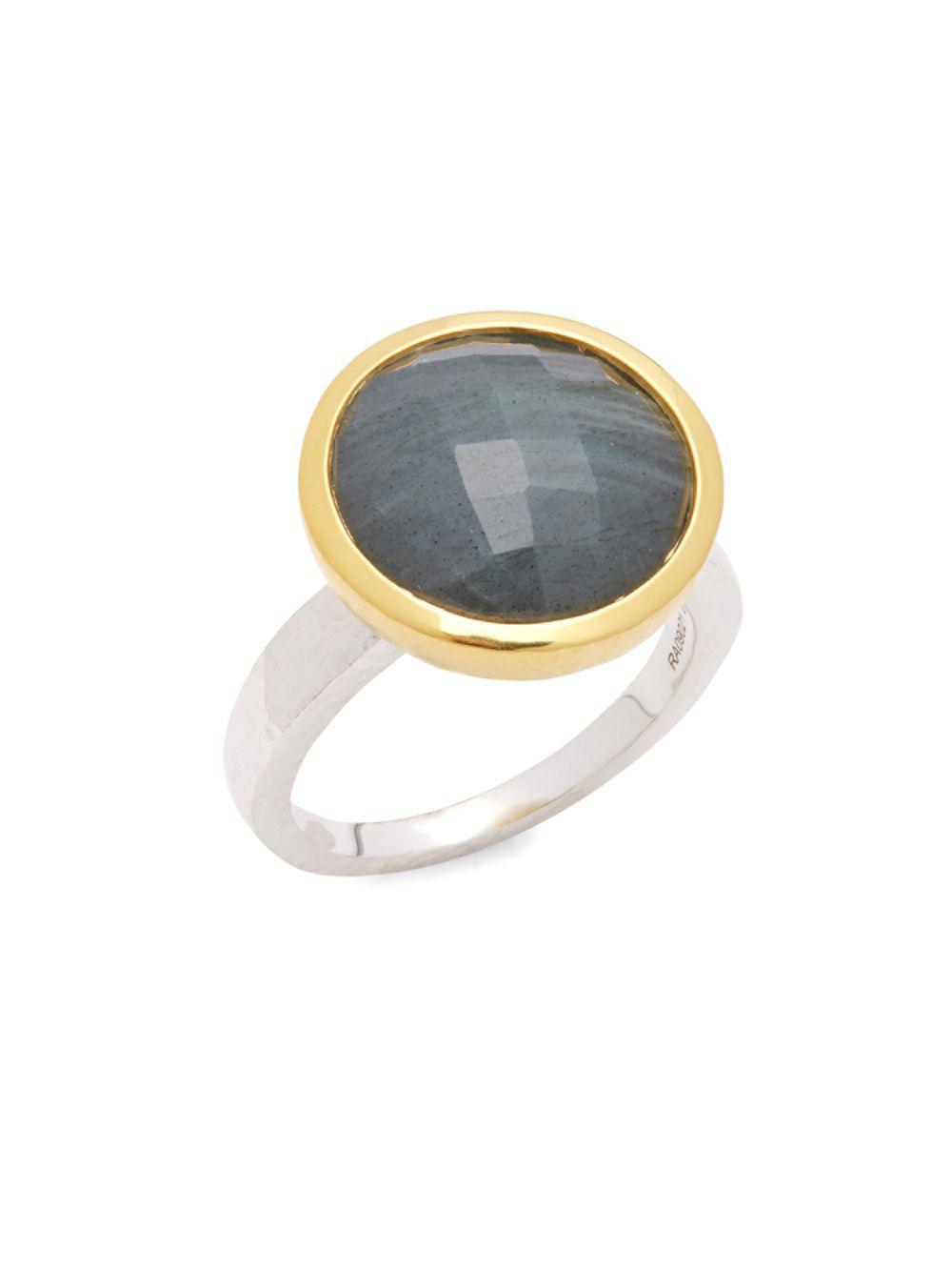 Gurhan Skittle Ring in Labradorite, Size 7
