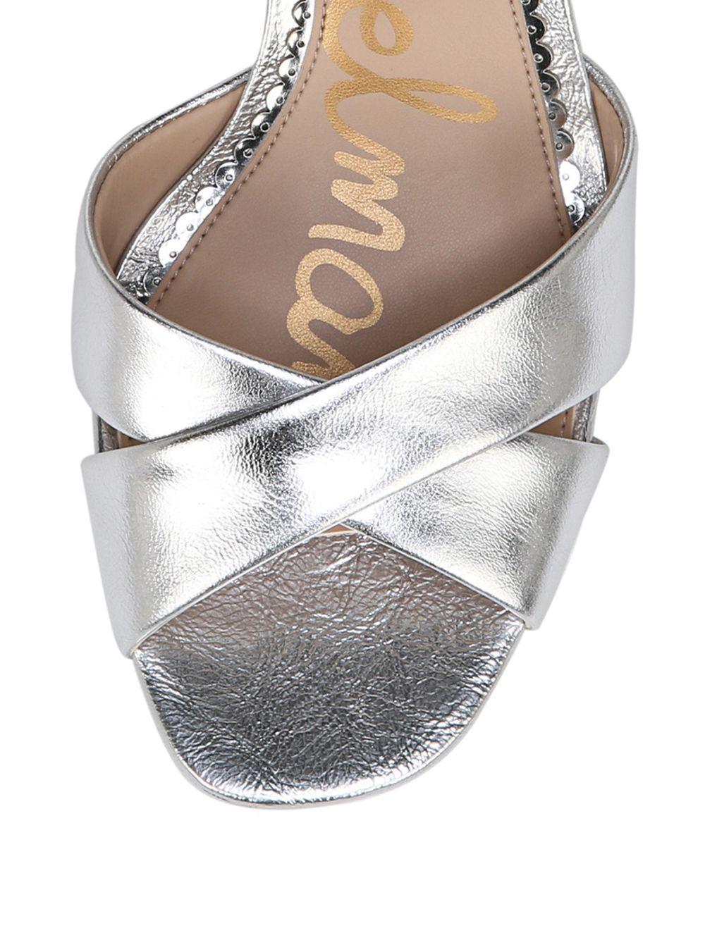 6cb57ad92b253 Sam Edelman - Metallic Jolene Heeled Sandal - Lyst. View fullscreen