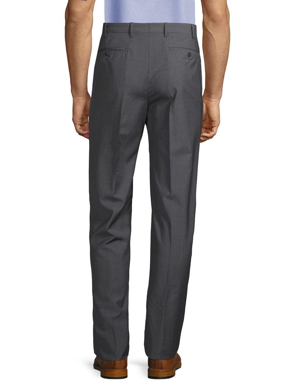 bec308191f Zanella - Gray Textured Solid Dress Pants for Men - Lyst. View fullscreen