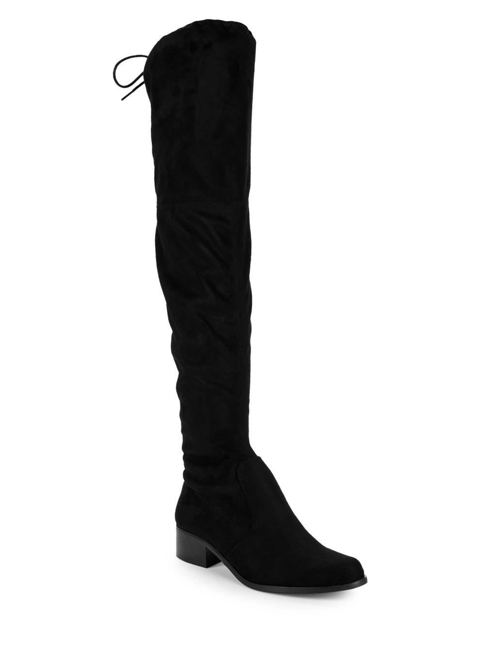 0ed48376a Charles David Groove-stretch Over-the-knee-boots in Black - Lyst