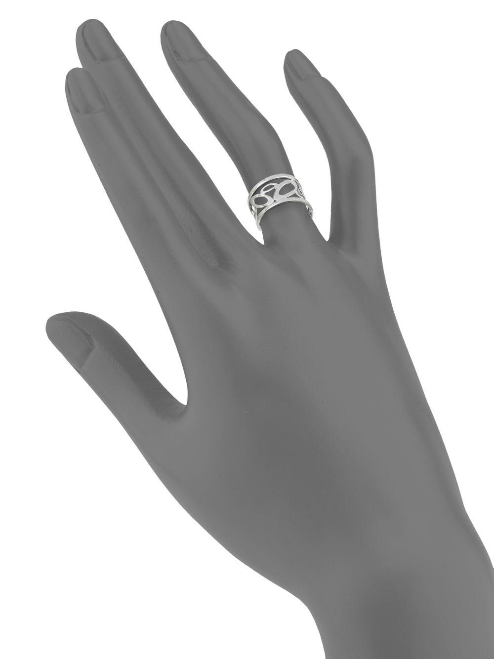 Roberto Coin Synthetic 18k White Gold Ring in Silver (Metallic)