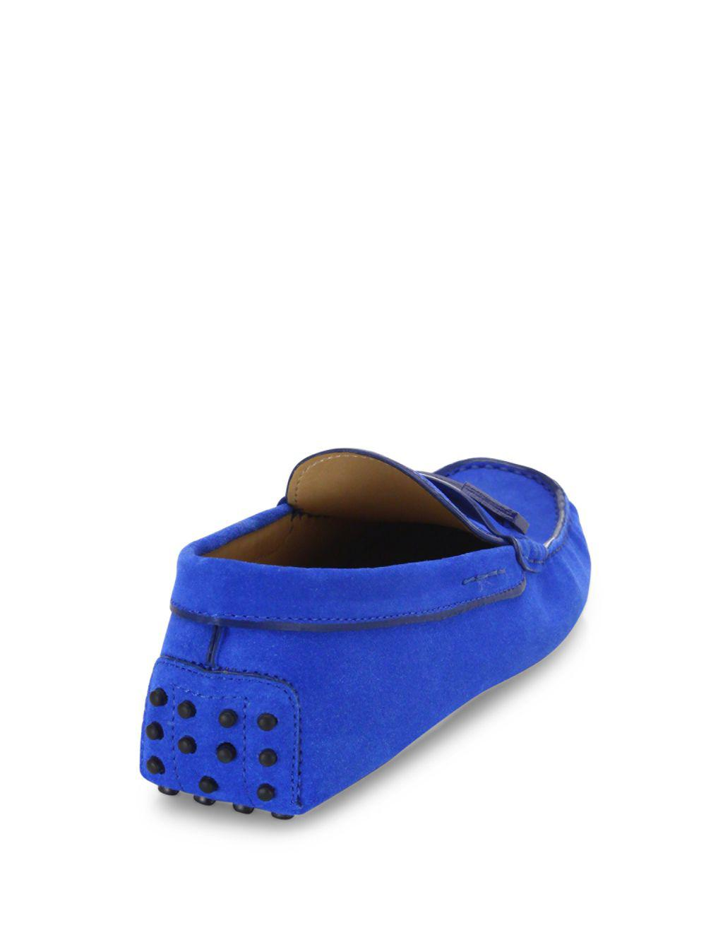 0d818ca3f73 Tod s - Blue Gommini Suede Drivers for Men - Lyst. View fullscreen