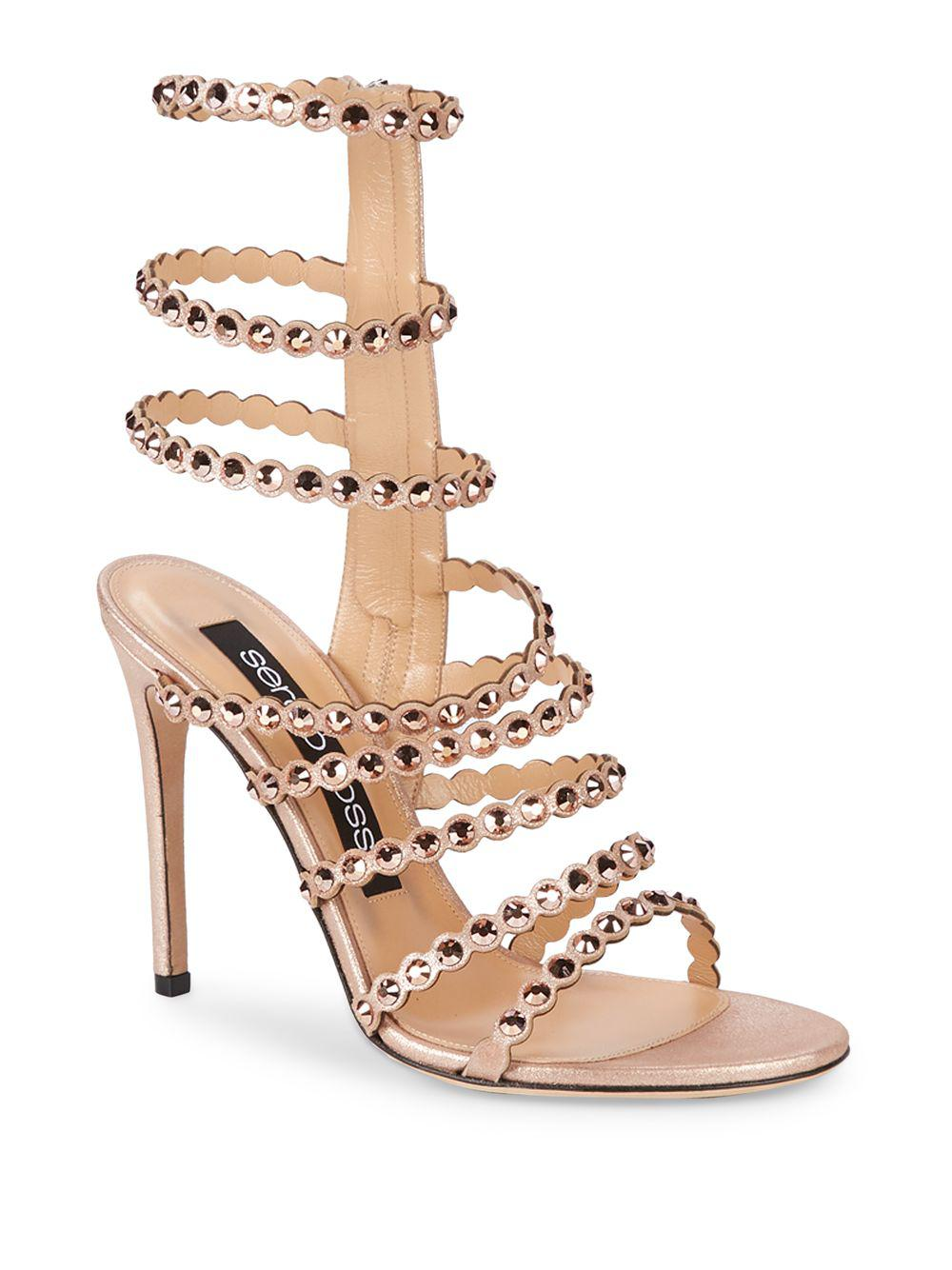 8224a3fb9706 Sergio Rossi. Women s Kimberly Crystal Gladiator Sandals