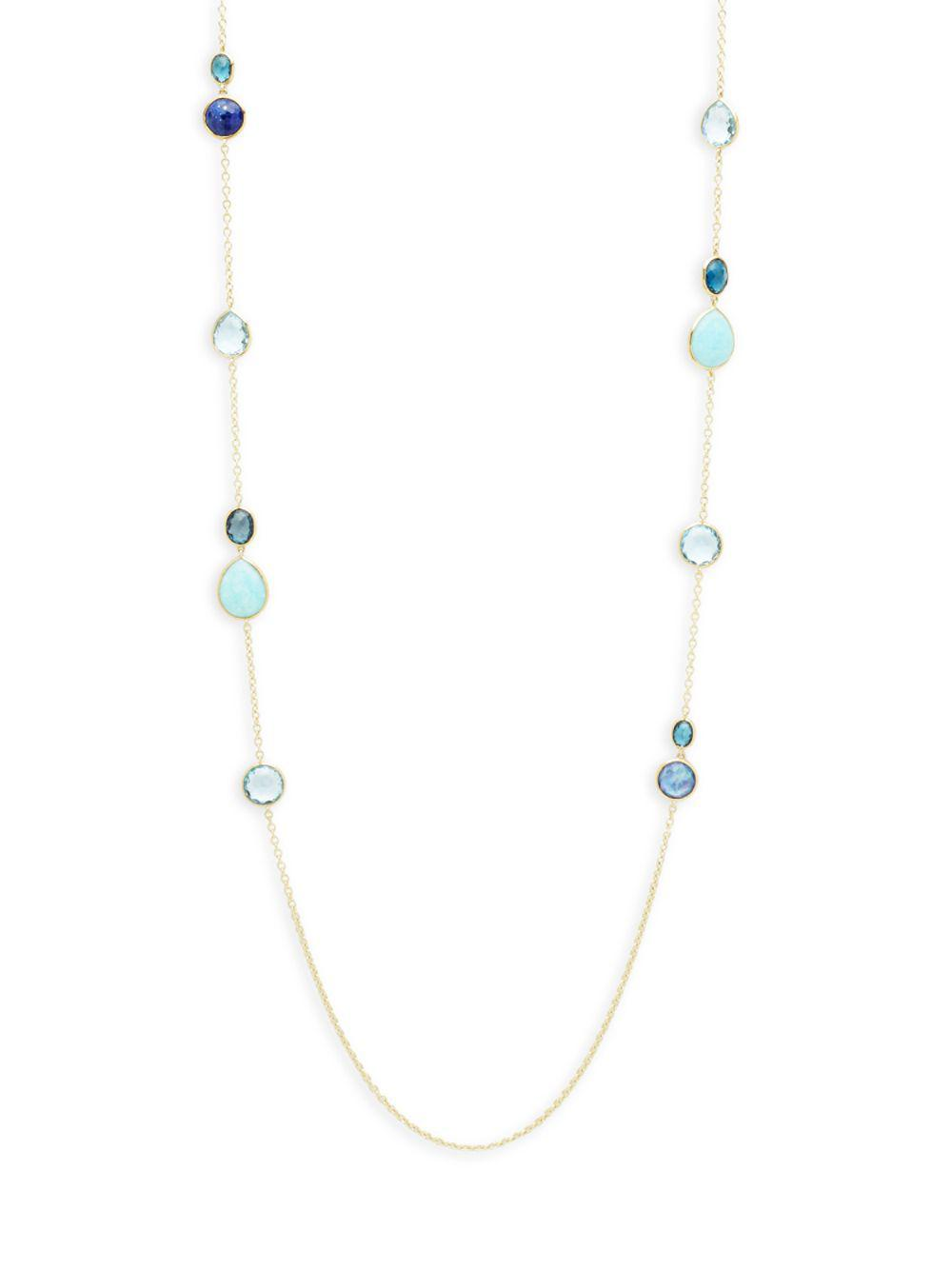 Ippolita 18K Rock Candy Mixed Stone Long Necklace in Summer Rainbow, 40