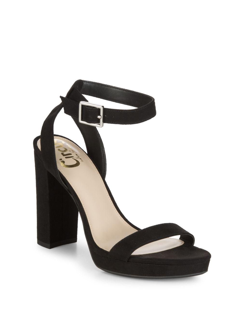 e24b45373d31 Circus by Sam Edelman Annettee Faux Suede Sandals in Black - Save 8 ...