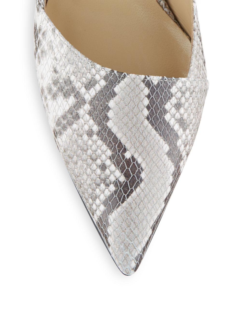 Saks Fifth Avenue Erika Snake Embossed Leather Pumps Lyst