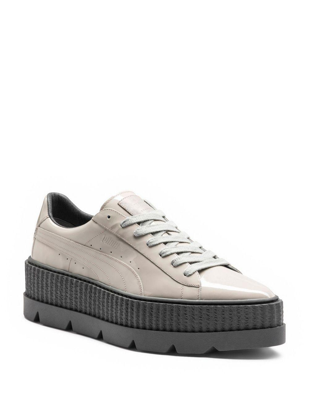 PUMA Pointy Patent Leather Creeper Sneakers in Gray - Save 55% - Lyst a377cacde