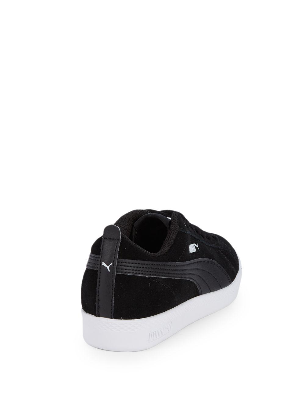 Lyst - PUMA Smash Suede Sneakers in Black for Men a18833f6d