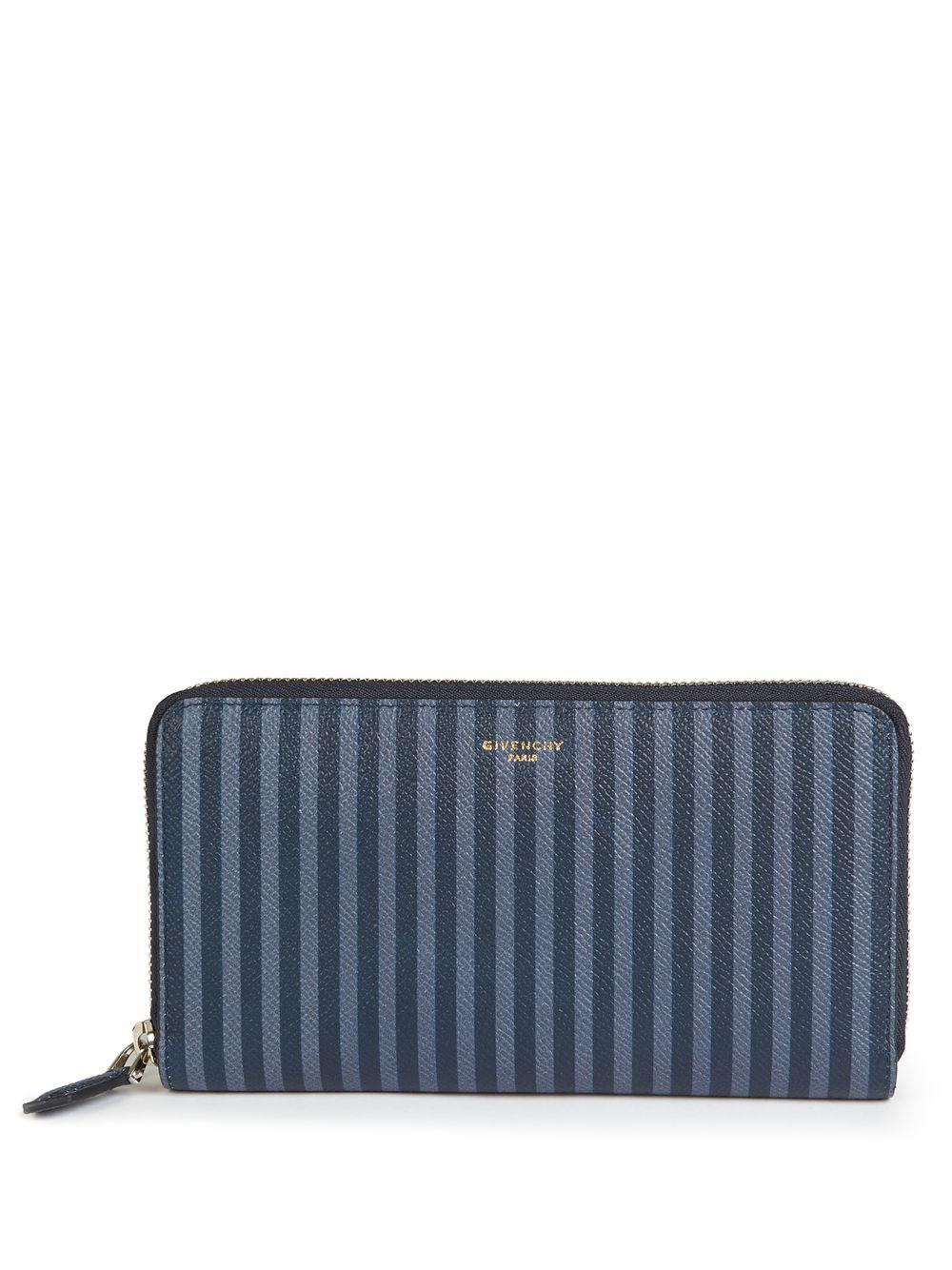 fdb8067d23b0d Givenchy - Blue Slg Striped Leather Zip-around Wallet for Men - Lyst. View  fullscreen