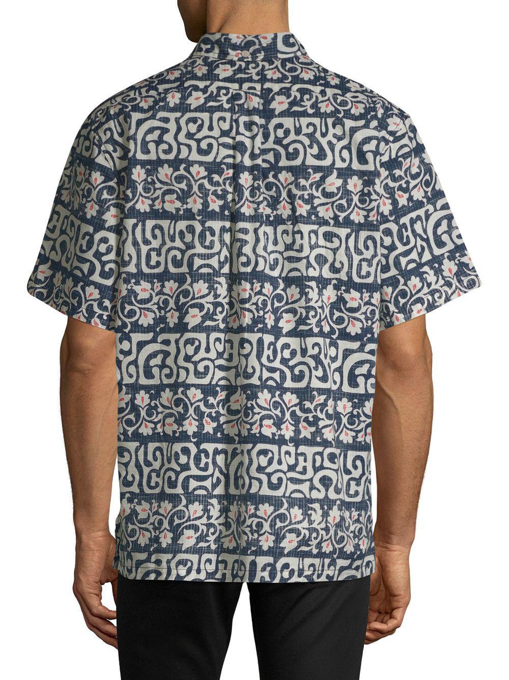 a2c54da2b Reyn Spooner - Blue Tahitian Reyn Cotton Button-down Shirt for Men - Lyst.  View fullscreen