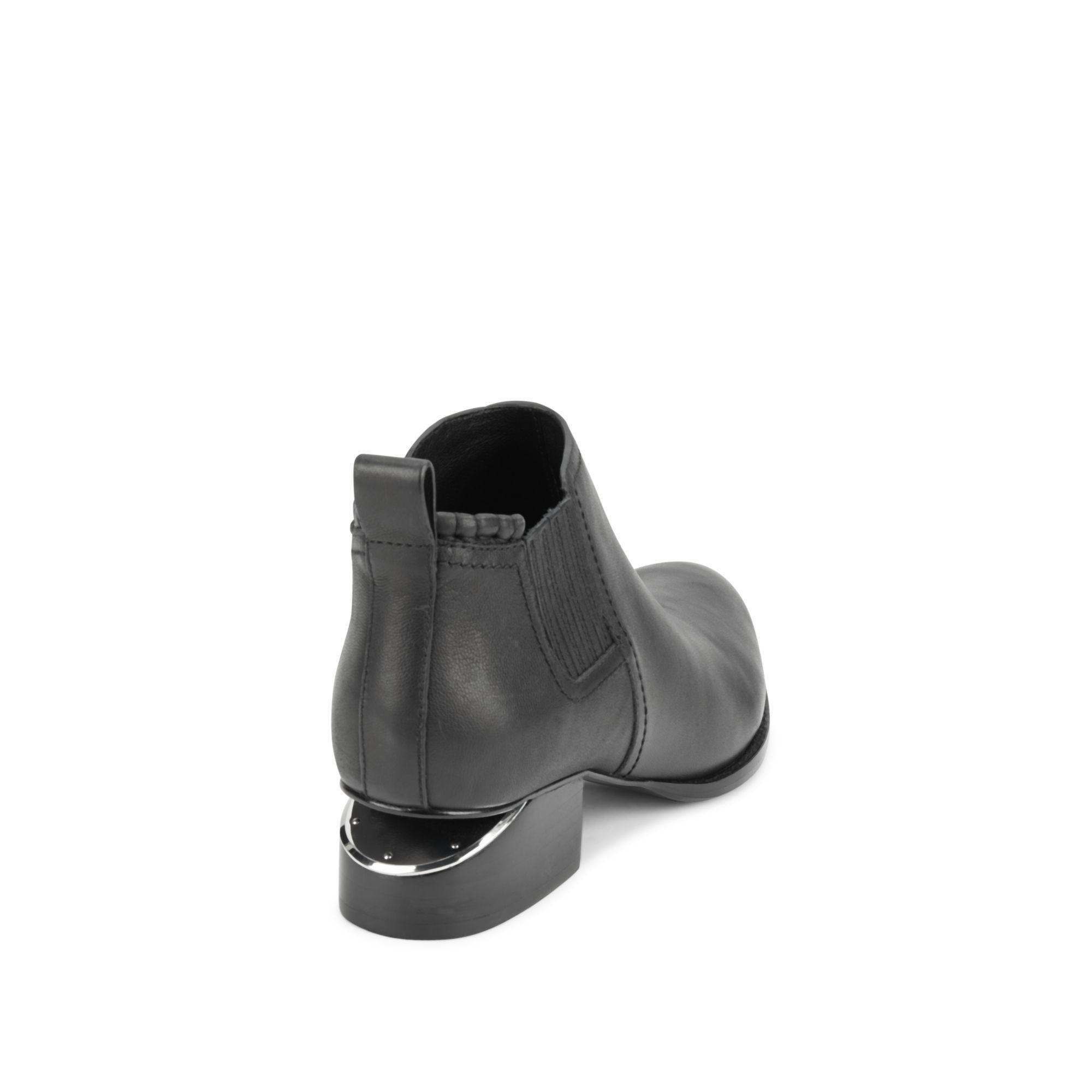 Alexander Wang Oxford-inspired Leather Boots in Black