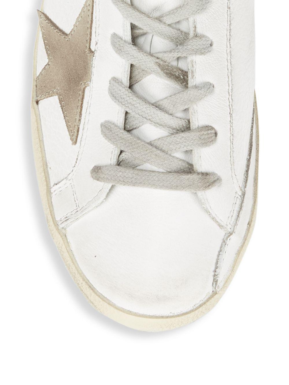 Golden Goose Deluxe Brand Lace-up Leather Sneakers in White