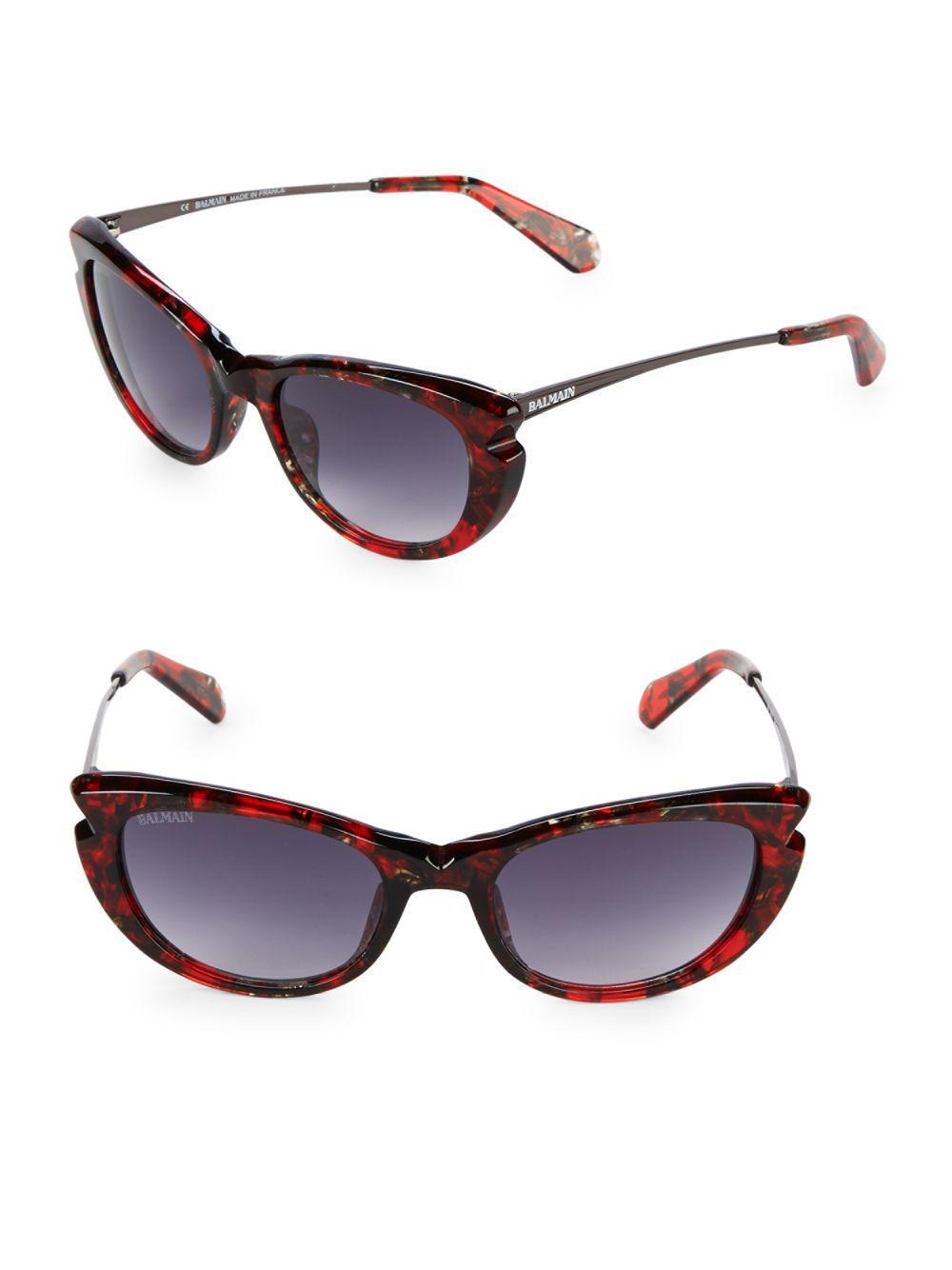 9ba0009c98f8 Lyst - Balmain 53mm Catyeye Sunglasses in Brown