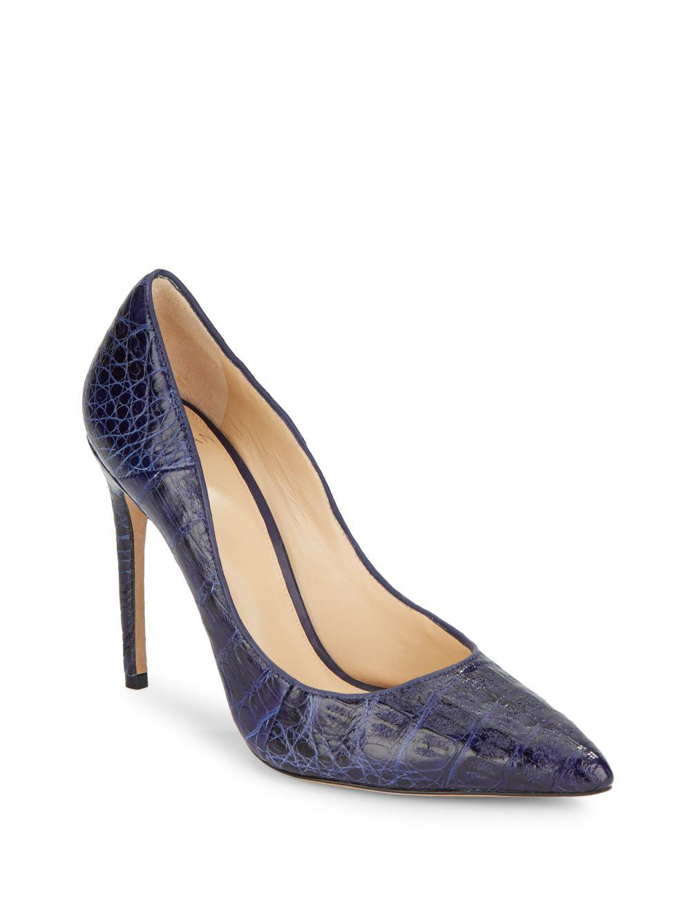 outlet exclusive Alexandre Birman Alligator Peep-Toe Pumps clearance clearance store FBKFCtr