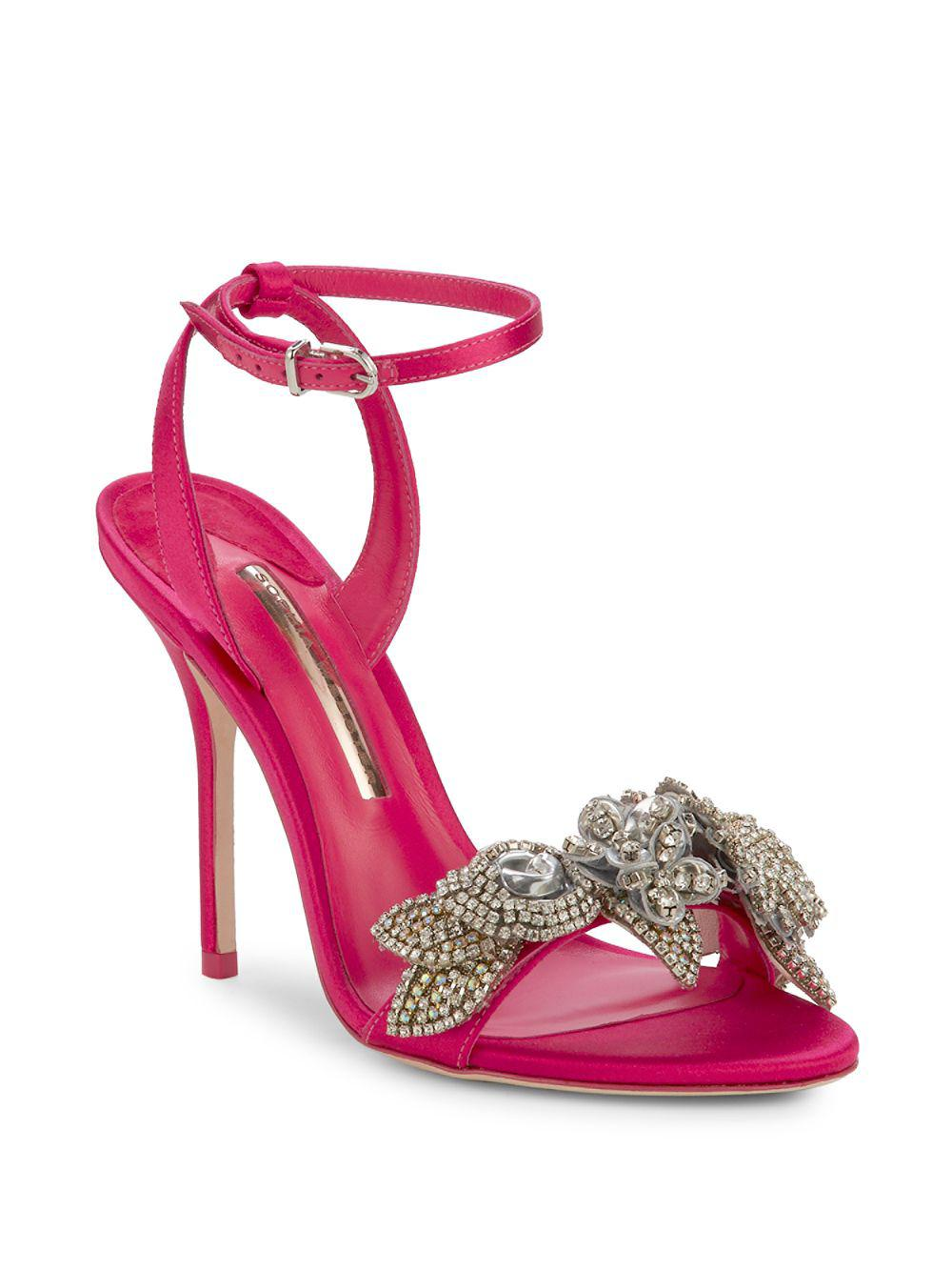 7b0261e4f16 Sophia Webster Lilico Crystal-embellished Leather Sandals in Pink - Lyst
