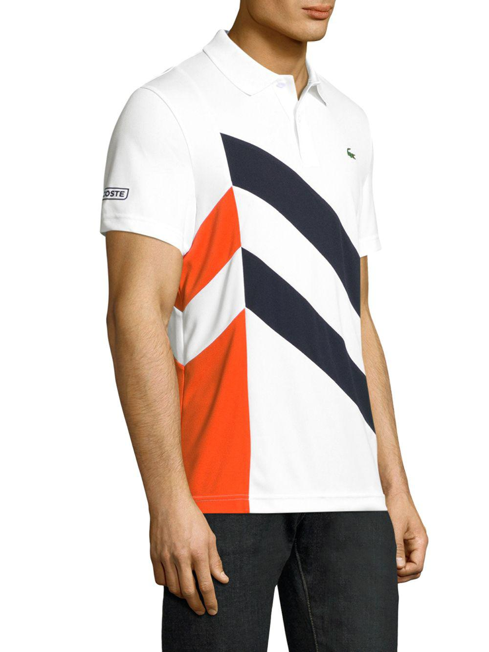 d77cfc82338f Lyst - Lacoste Contrast Linear Polo for Men