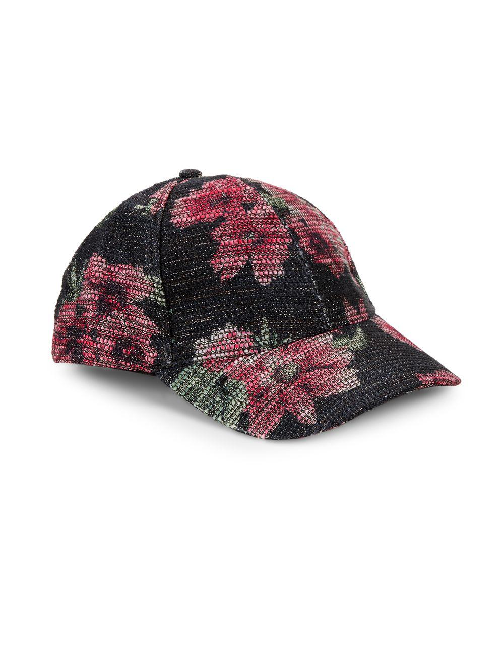 59c70bf86eb Collection 18 Sparkle Floral Baseball Cap in Black for Men - Lyst