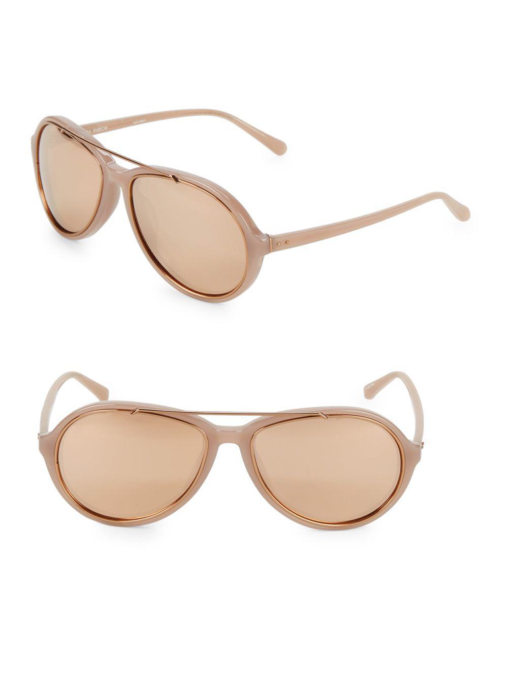 27411a675bb Linda Farrow. Women s 59mm Oval Sunglasses