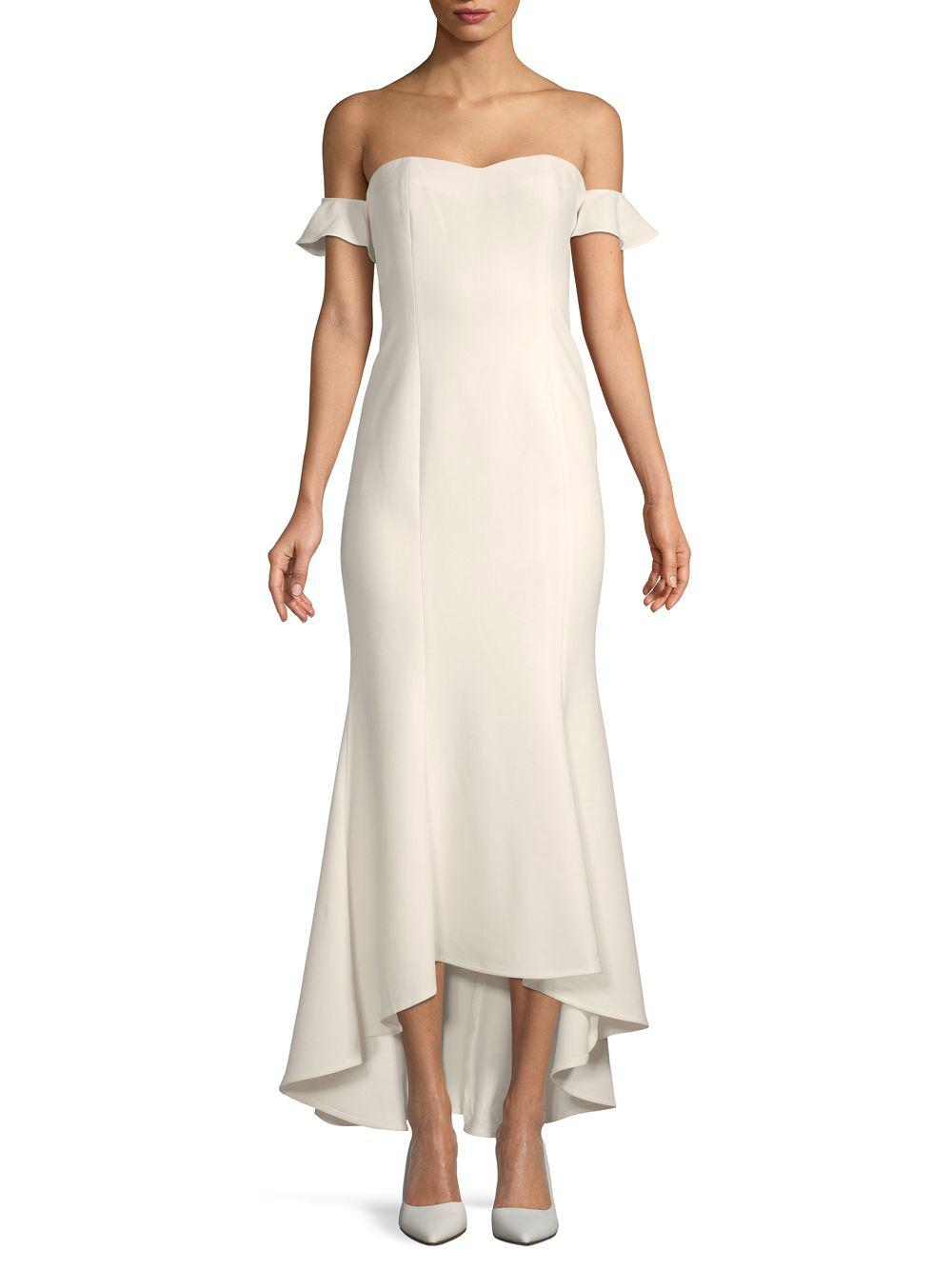 b87b738dccf3 Lyst - Likely Sunset Off-the-shoulder Gown in White