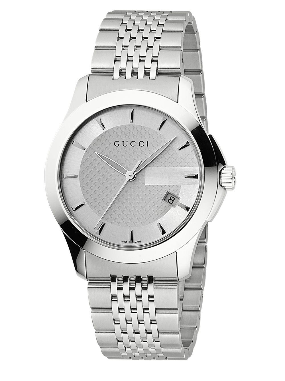 9f8da289903 Gucci G-timeless Collection Watch silver Dial in Metallic for Men - Lyst