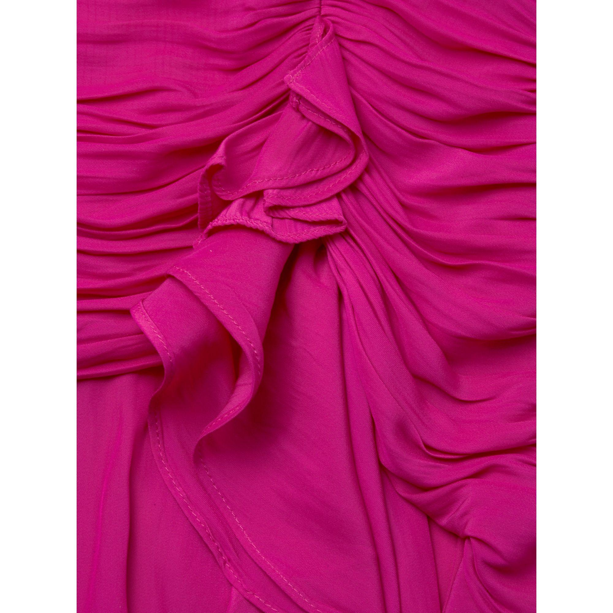 Ramy Brook Womens Becca Ruched Waist Mini Dress