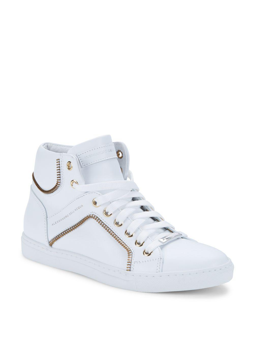 ALESSANDRO DELL'ACQUA Sneakers Homme WHITE, 45