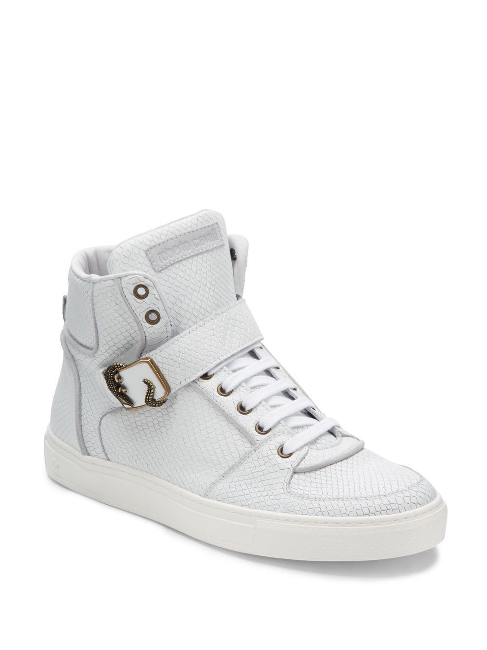 80d03ffe32b Roberto Cavalli White High-top Sneakers for men