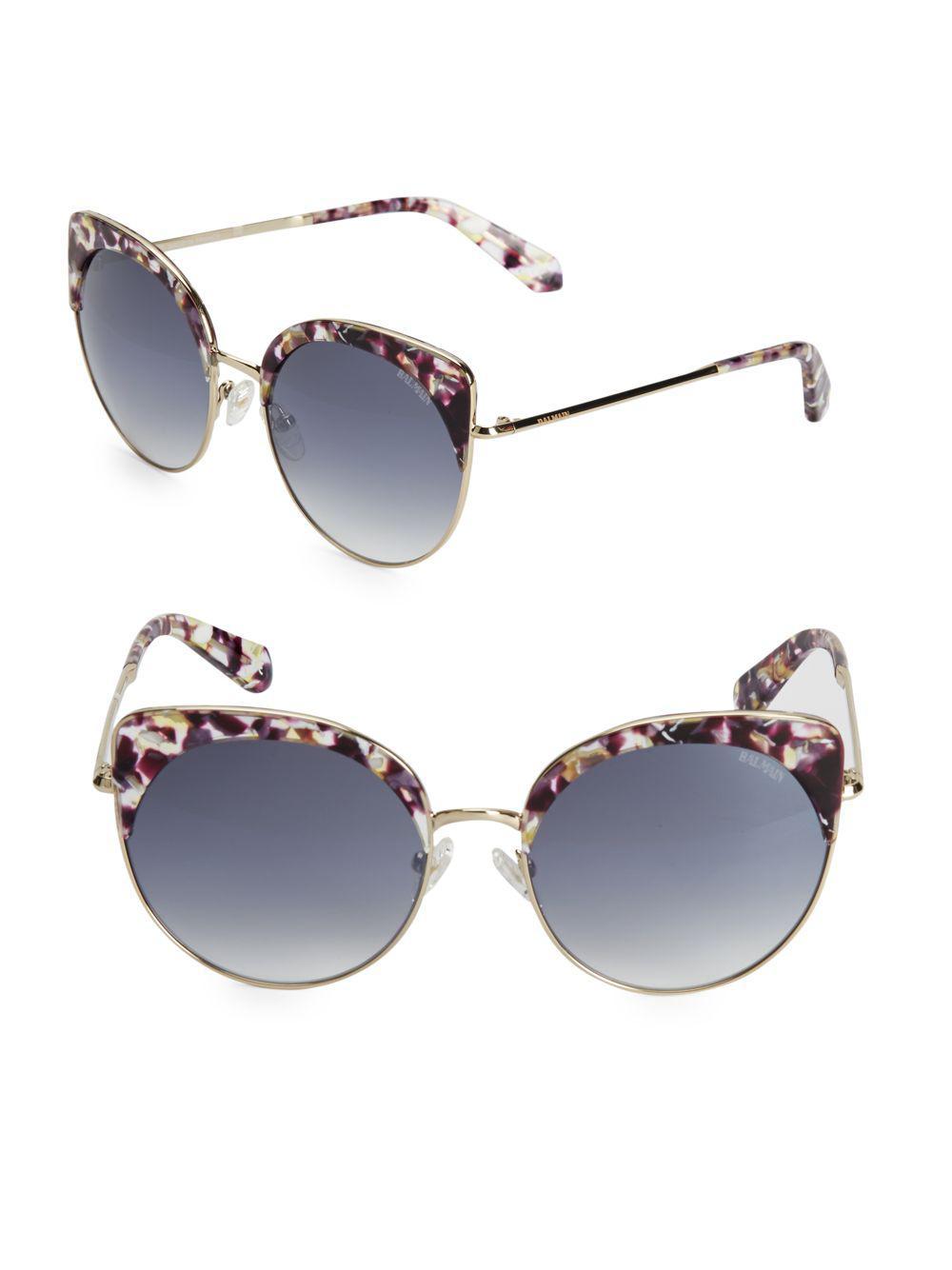 d7e072db4815f Lyst - Balmain 55mm Cat Eye Sunglasses in Purple