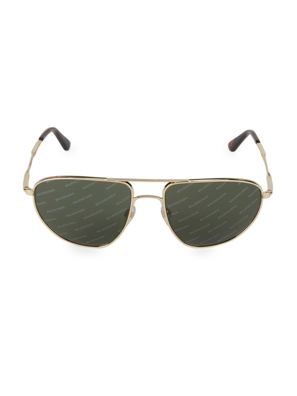 b19144ebafc Balenciaga - Metallic 59mm Aviator Metal Sunglasses for Men - Lyst. View  fullscreen