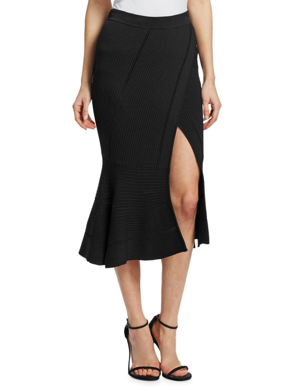 54f4e93f14 Jonathan Simkhai Ribbed Knit Midi Skirt in Black - Save 2% - Lyst