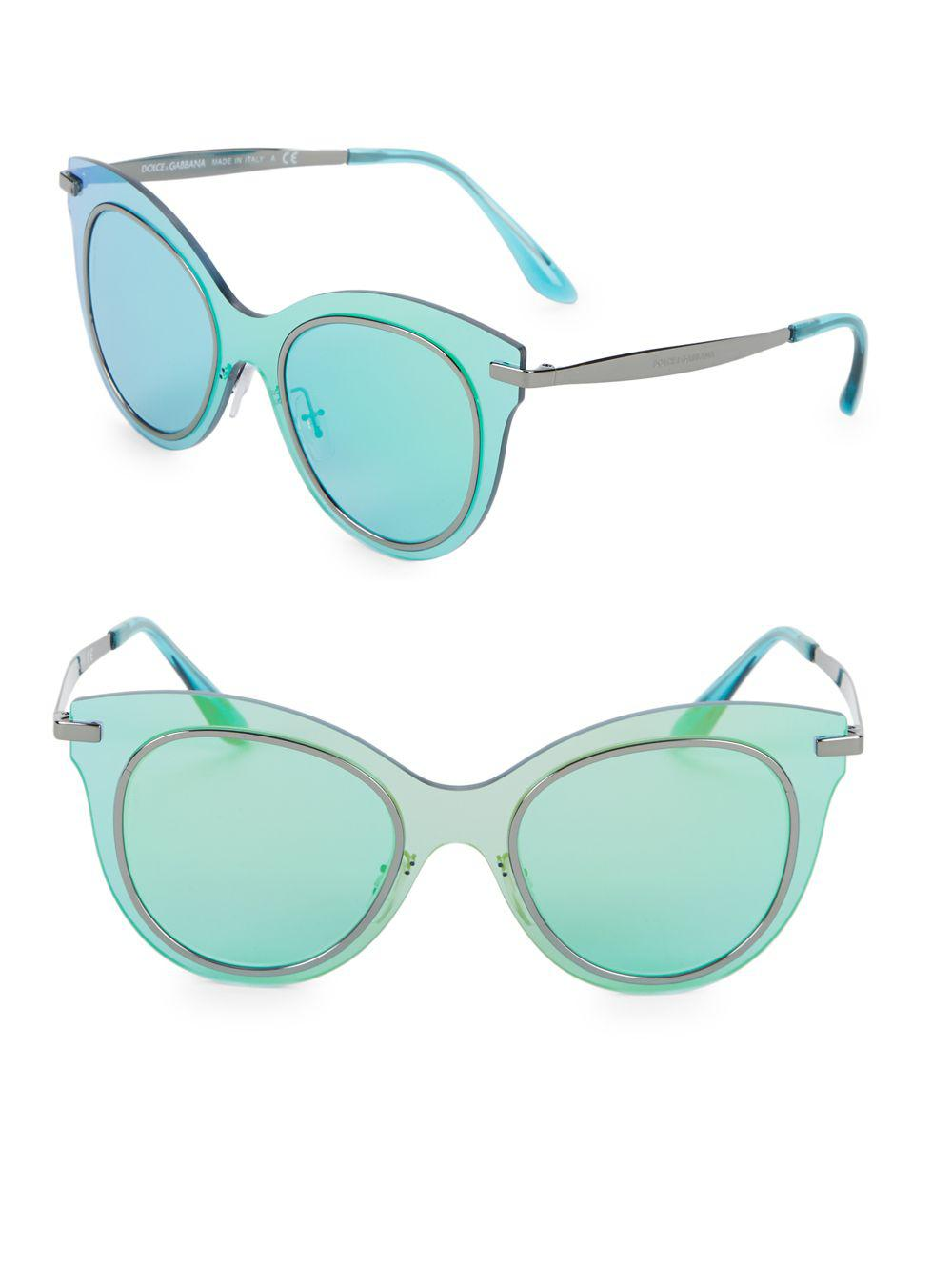 aad0d0d60ec Dolce   Gabbana 51mm Opalescent Round Sunglasses in Blue - Lyst