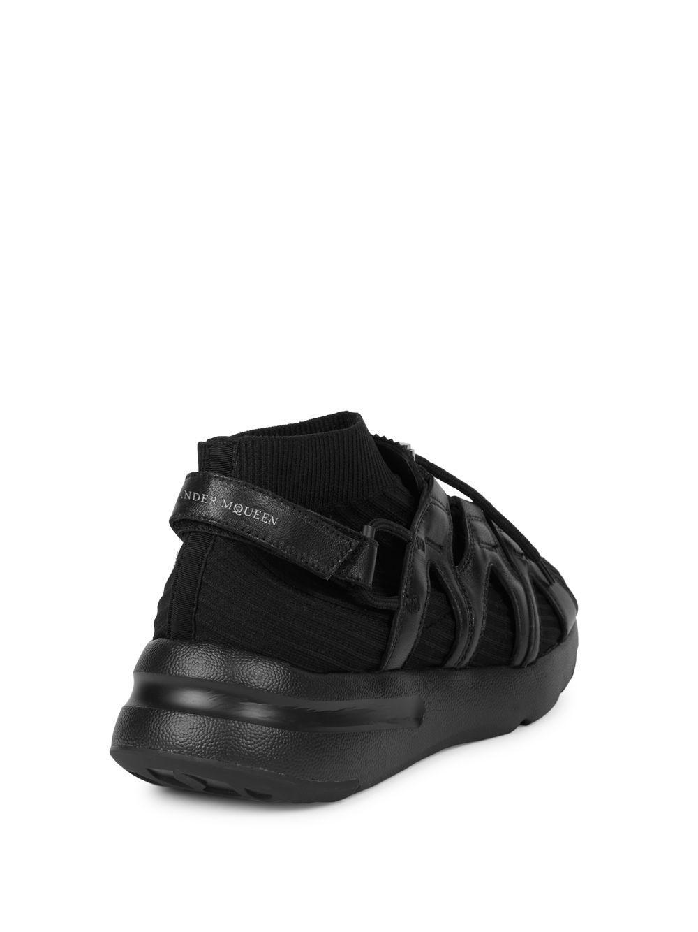 Alexander McQueen Synthetic Classic Running Sneakers in Black for Men