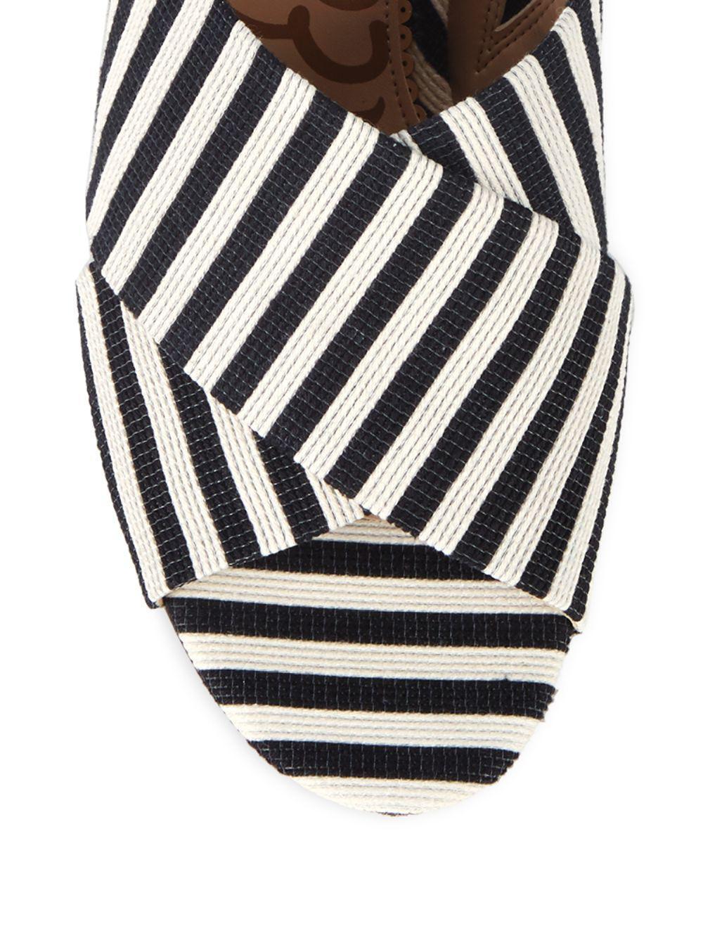 6282f8b8a7a7 Lyst - Sam Edelman Stanley Striped Block Heel Mules in Black