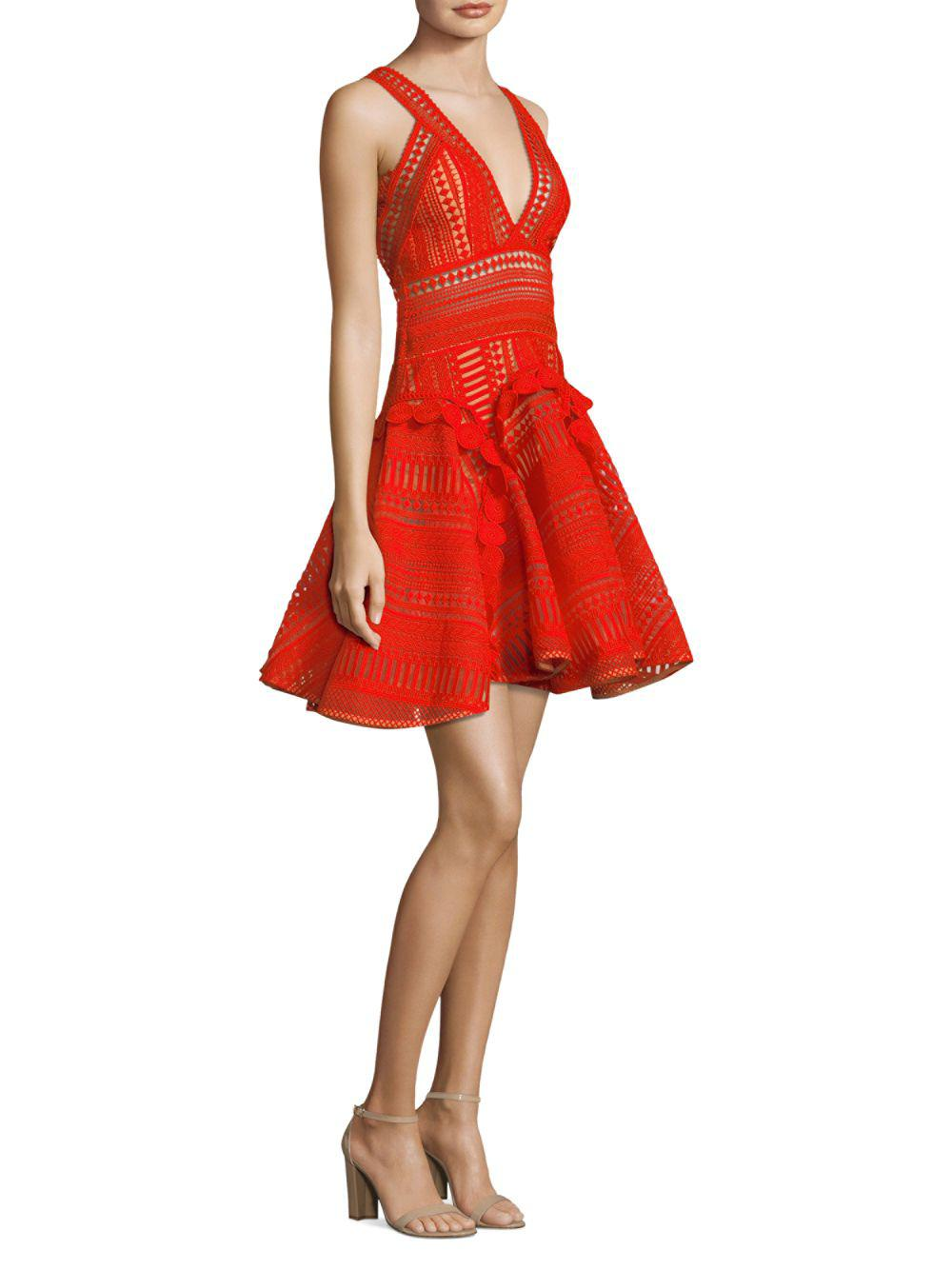 Thurley Lace Halley S Comet Fit Amp Flare Dress In Red Lyst