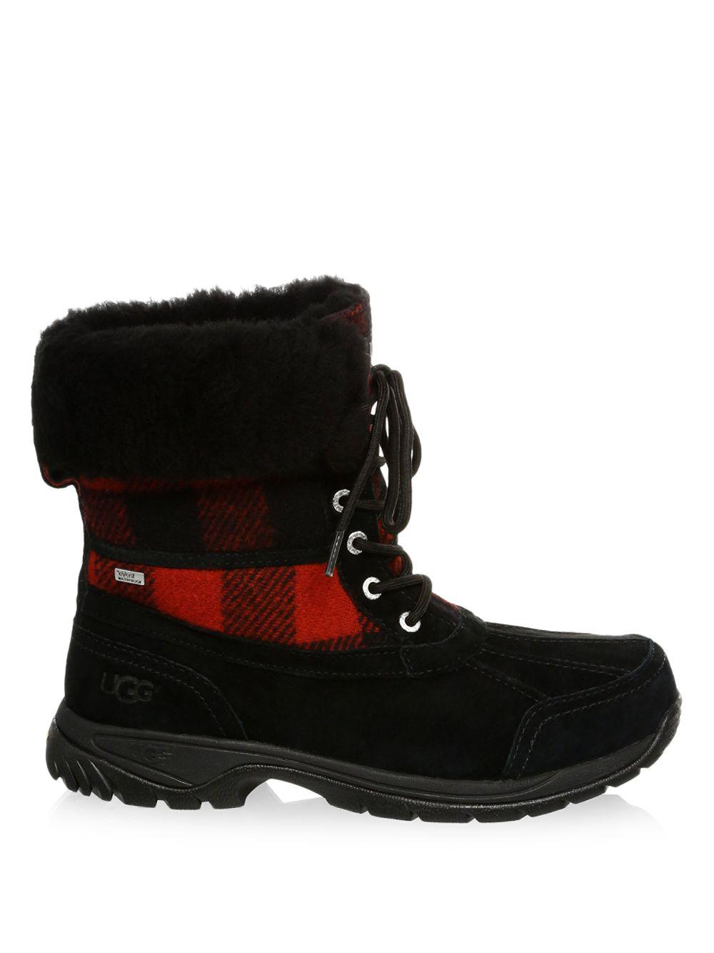 new product bc7a1 d55a0 Women's Black Butte Waterproof Buffalo Check UGGPure Winter Boots