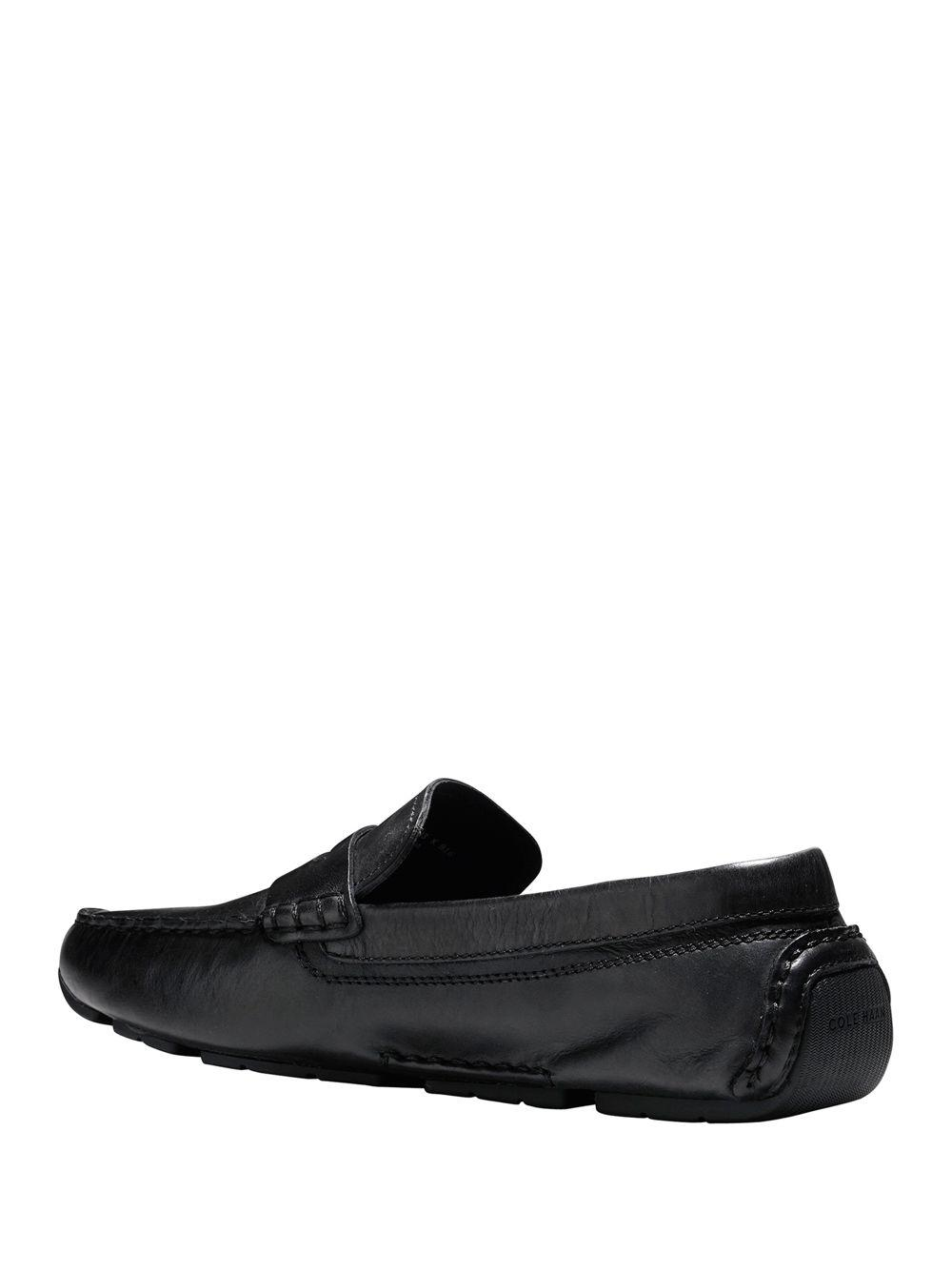 2ac14eb9df5 Cole Haan Kelson Penny Driver Leather Moccasins in Black for Men - Save 18%  - Lyst