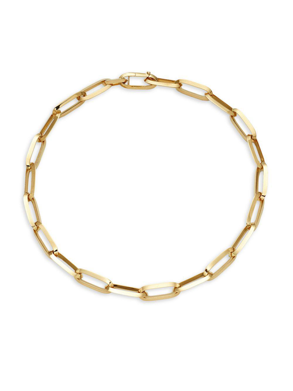 Roberto Coin 18k Yellow Gold Chain Link Necklace in Metallic - Lyst