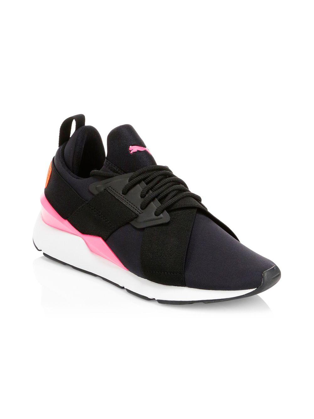 136cbae52f721d Lyst - PUMA Women s Muse Chase Sneakers - Black - Size 6.5 in Black - Save  39%