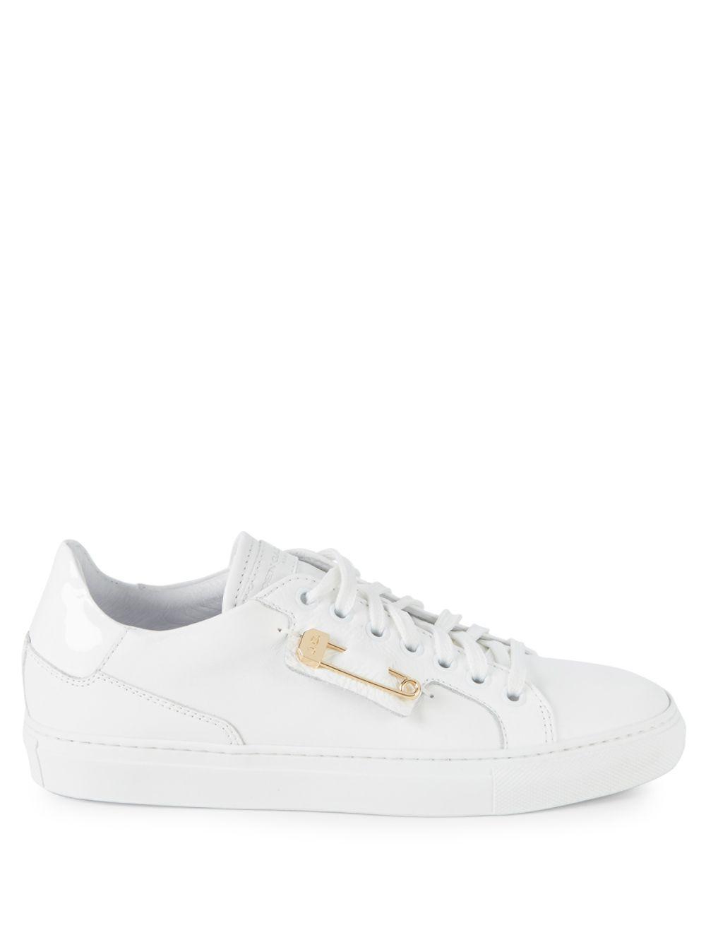 John Galliano Leather Sneakers in White