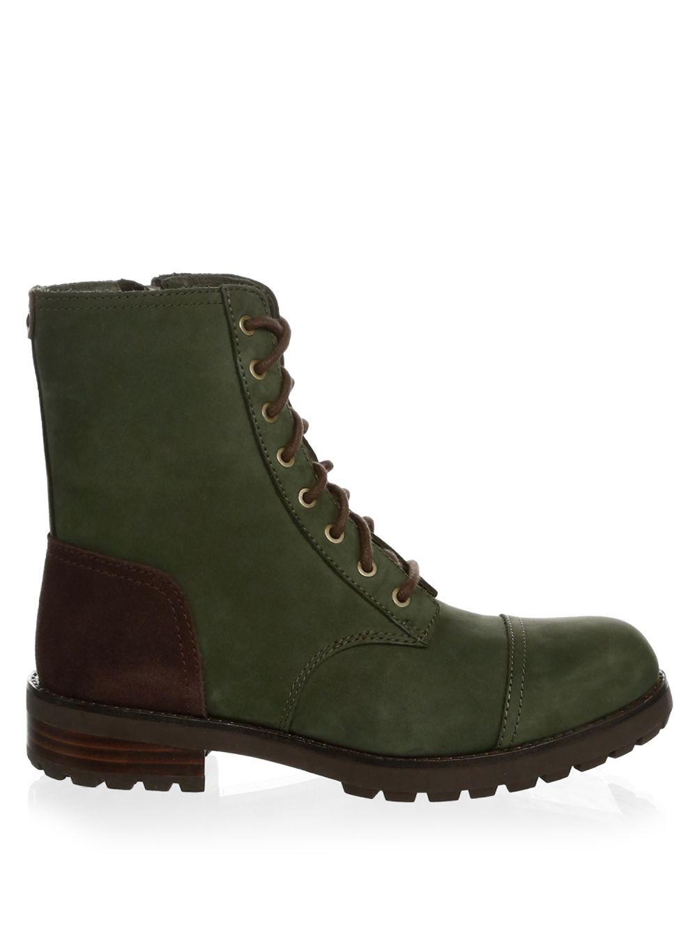 fc3d1cba582 Women's Green Kilmer Shearling-trim Leather Booties