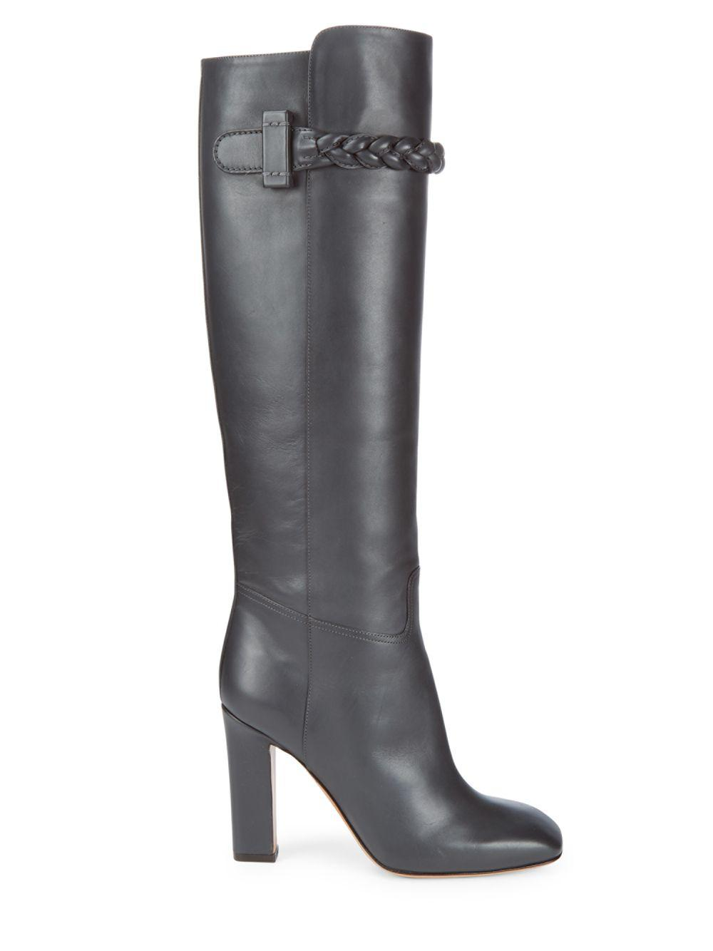 Valentino Patent Leather Square-Toe Boots sale best place 9jc3ZS