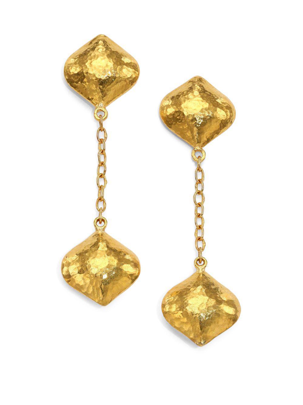 Gurhan Clove 24k Double Long Puff Drop Earrings lNlrbon