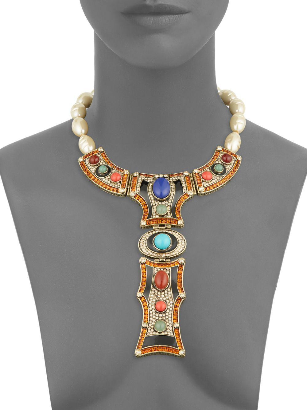 Heidi Daus Art Deco Necklace in Metallic