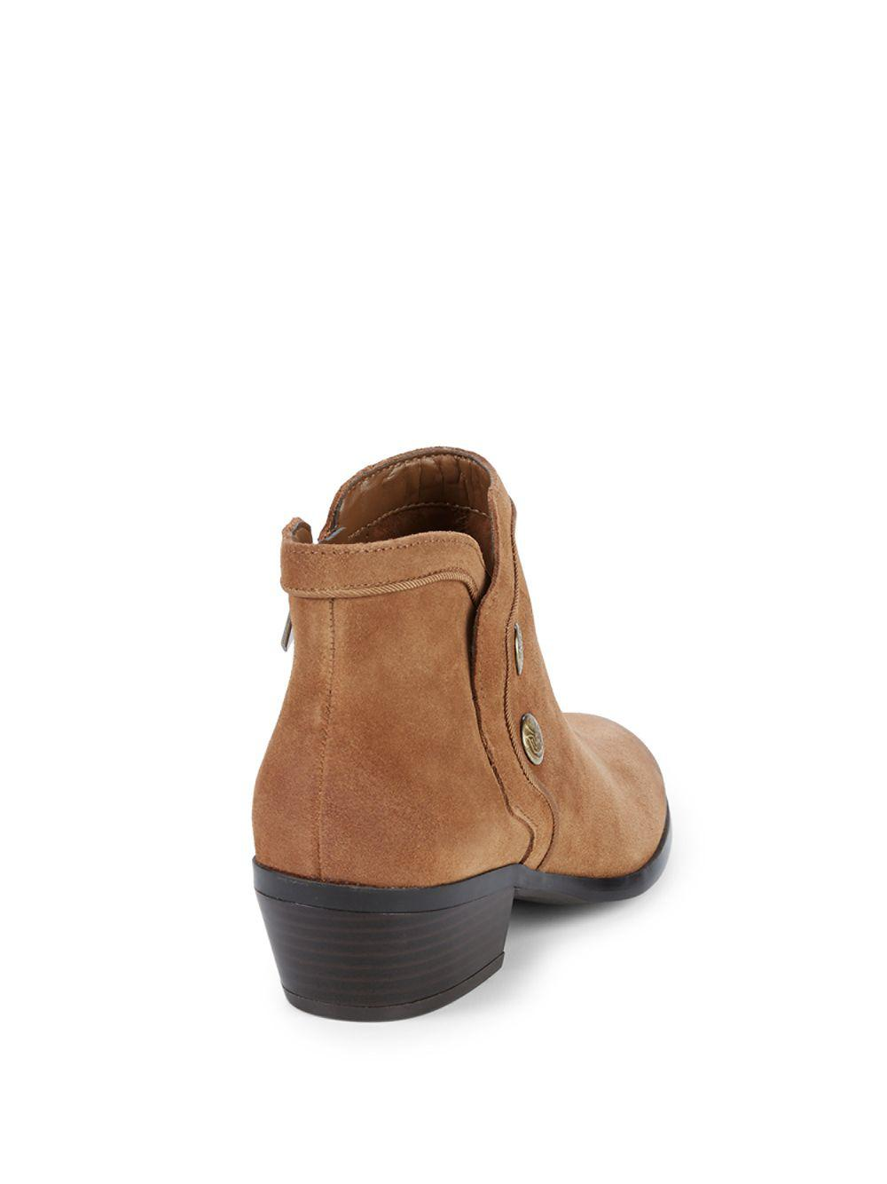 f235f9309d56a Lyst - Sam Edelman Pacer Suede Ankle Boots in Brown